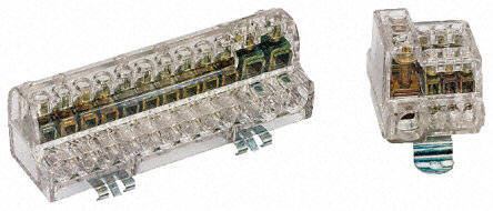 BB-DIN-5W-5X100A  BUSBAR 5 Way 5x100A