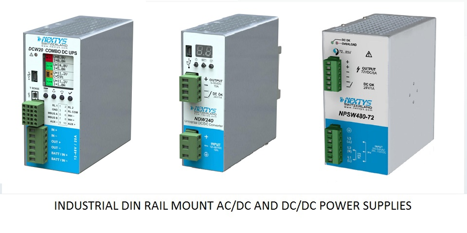 Din Rail Mount AC/DC Industrial Power Supplies